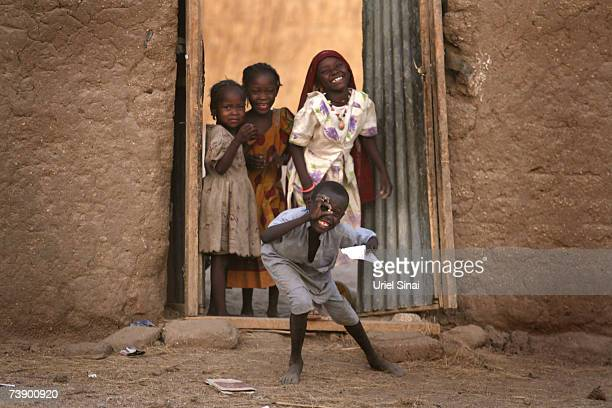 Chadian children play in the streets of Abeche Chad on April 2007 Tensions between Chad and Sudan have risen over recent weeks following border...