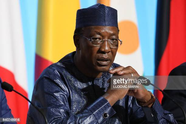 Chadian President Idriss Deby attends a meeting with EU and African leaders to discuss how to ease the European Union's migrant crisis at the Elysee...