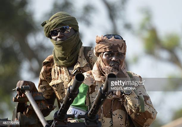 Chadian soldiers leave an Africanled International Support Mission to the Central African Republic military camp in Bangui on April 4 2014 The UN...
