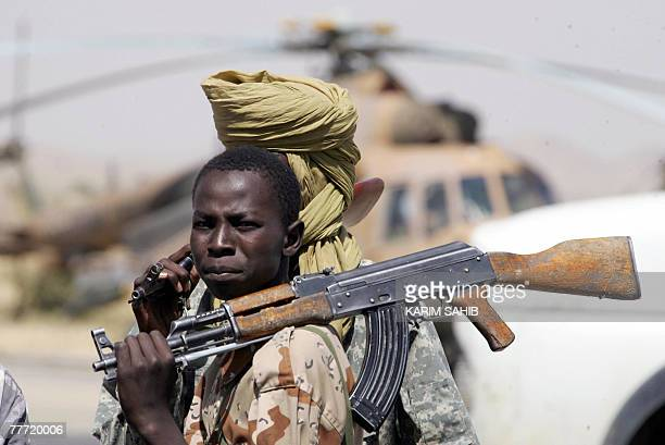 Chadian soldiers patrol at Abeche airport 05 November 2007 A total of 17 Europeans were detained on charges of kidnapping and complicity for trying...