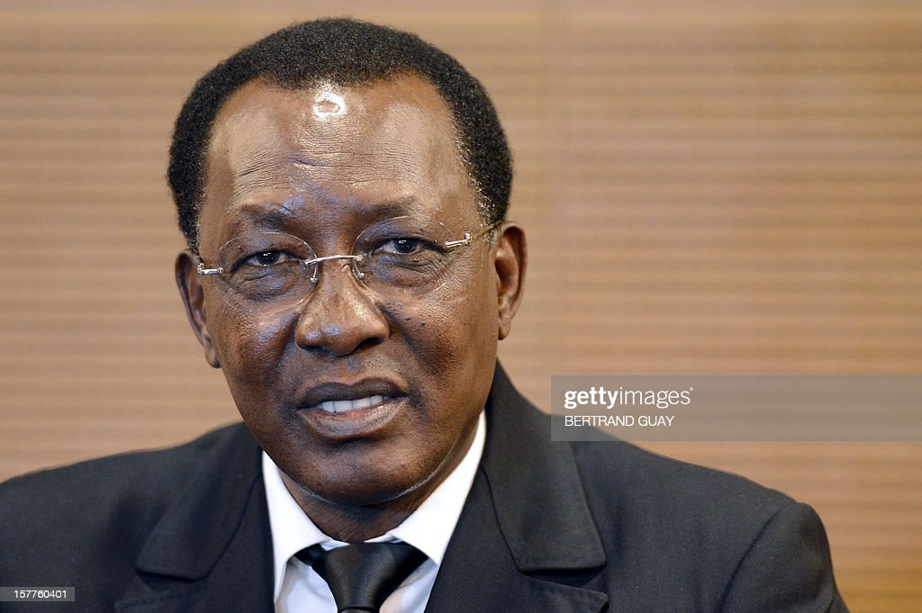 Chad's President Idriss Deby Itno talks during a press conference at France's largest employers' union Medef on December 6, 2012 in Paris. Deby Itno on December 5 denounced the confusion surrounding plans for a UN-backed military intervention to oust Islamists in control of northern Mali.