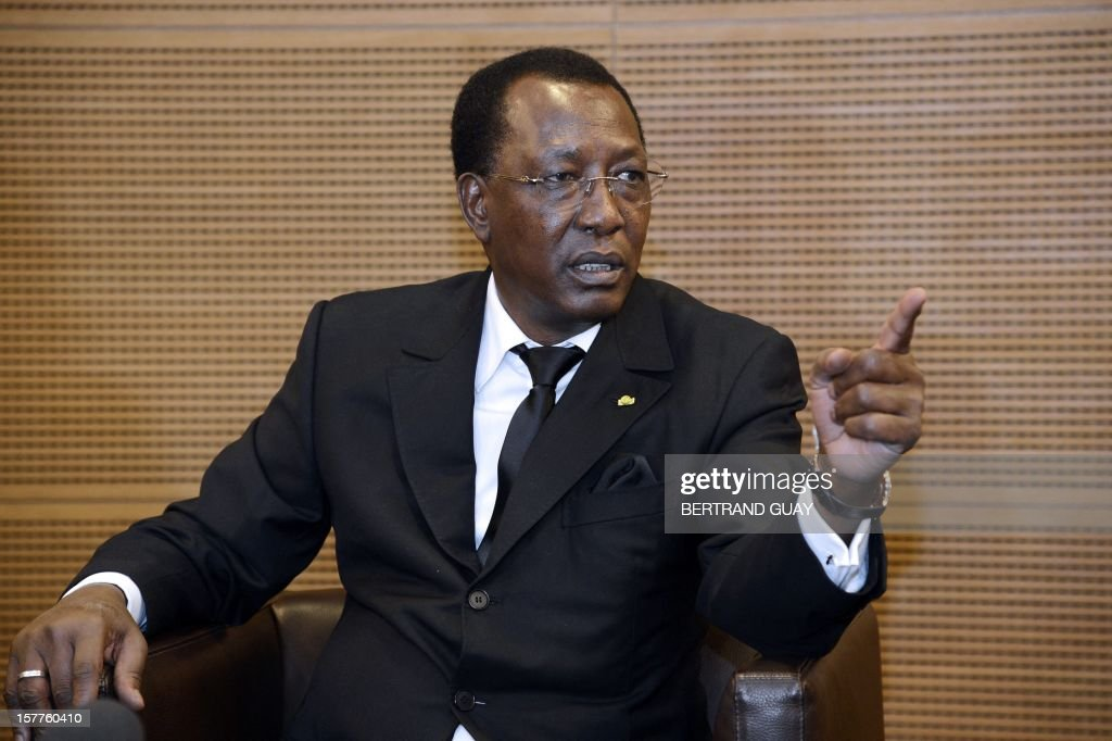 Chad's President Idriss Deby Itno talks during a press conference at France's largest employers' union Medef on December 6, 2012 in Paris. Deby Itno on December 5 denounced the confusion surrounding plans for a UN-backed military intervention to oust Islamists in control of northern Mali. AFP PHOTO / BERTRAND GUAY
