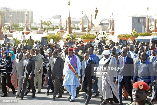 Chad's Prime Minister Kalzeube Pahimi Deubet President of Chad's National Assembly Haroun Kabadi andPresident of Chad's coucil of Islamic Affairs...