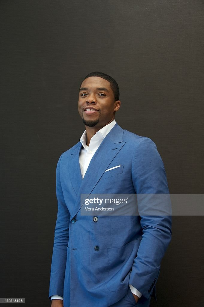 Chadwick Boseman at the 'Get On Up' Press Conference at the Mandarin Oriental Hotel on July 21 2014 in New York City