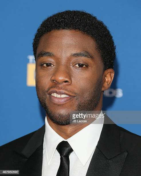 Chadwick Boseman attends the 67th Annual Directors Guild Of America Awards at the Hyatt Regency Century Plaza on February 7 2015 in Century City...
