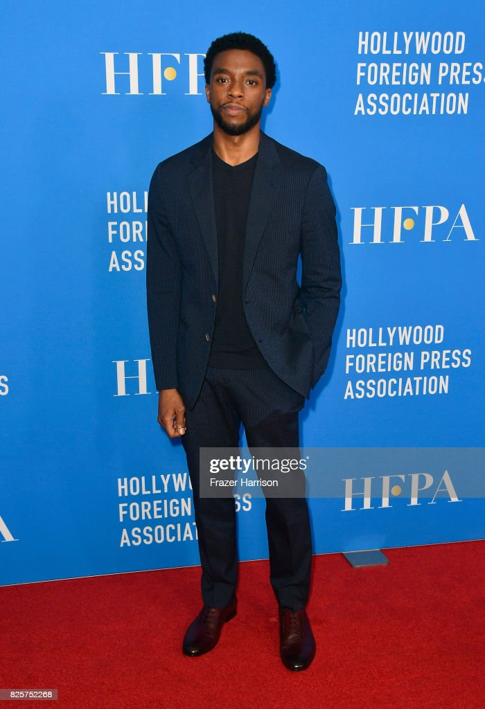Chadwick Boseman attends the Hollywood Foreign Press Association's Grants Banquet at the Beverly Wilshire Four Seasons Hotel on August 2, 2017 in Beverly Hills, California.