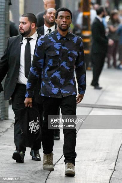 Chadwick Boseman is seen on October 09 2017 in Los Angeles California