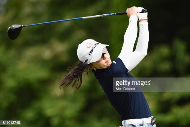 ChaeYoung Yoon of South Korea hits her tee shot on the 10th hole during the final round of the Nipponham Ladies Classics at the Ambix Hakodate Club...