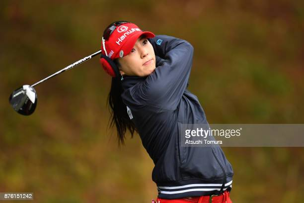 ChaeYoung Yoon of South Korea hits her tee shot on the 2nd hole during the final round of the Daio Paper Elleair Ladies Open 2017 at the Elleair Golf...