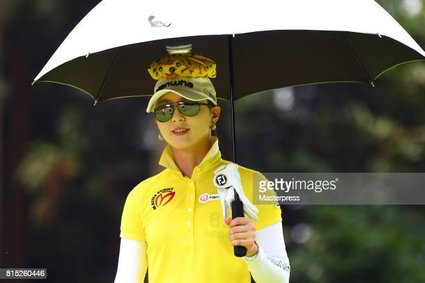ChaeYoung Yoon of South Korea smiles during the final round of the Samantha Thavasa Girls Collection Ladies Tournament at the Eagle Point Golf Club...