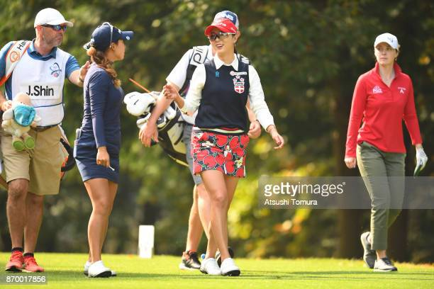 ChaeYoung Yoon of South Korea smiles during the second round of the TOTO Japan Classics 2017 at the Taiheiyo Club Minori Course on November 4 2017 in...
