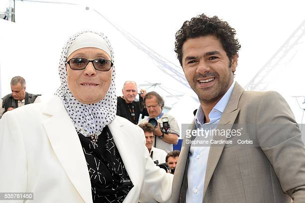 Chafia Boudraa and Jamel Debbouze at the photocall for 'Outside of the law' during the 63rd Cannes International Film Festival