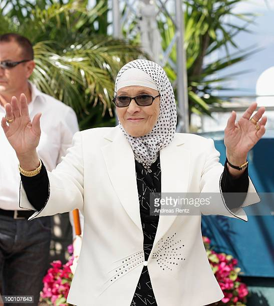 Chafia Boudraa attends the 'Outside Of The Law' Photocall at the Palais des Festivals during the 63rd Annual Cannes Film Festival on May 21 2010 in...