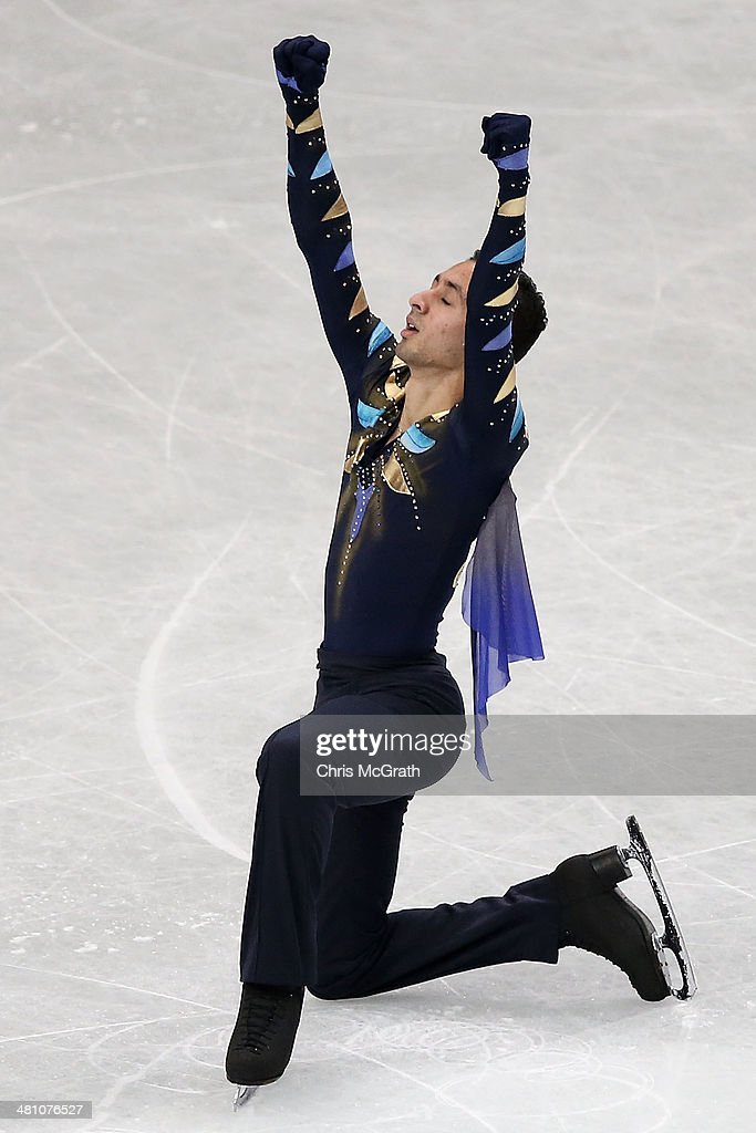 Chafik Besseghier of France competes in the Men's Free Skating during ISU World Figure Skating Championships at Saitama Super Arena on March 28, 2014 in Saitama, Japan.