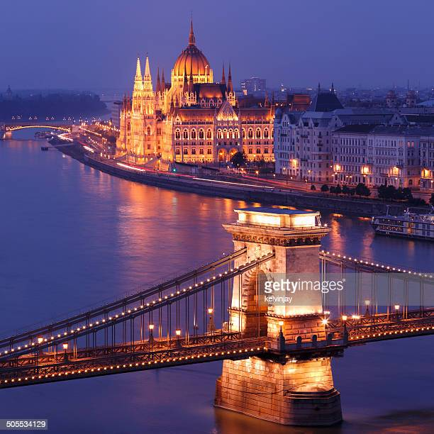 Chain Bridge and Parliament building in Budapest