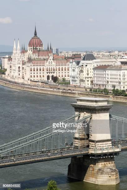 Chain bridge over Danube River