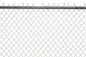 """""""A chainlink fence is isolated on a white background.Here is more chainlink fencing, all XL and all isolated on white:"""""""