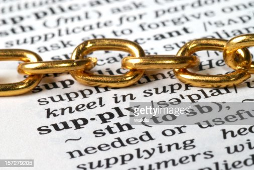 chain on supply word defintion in dictionary - impact