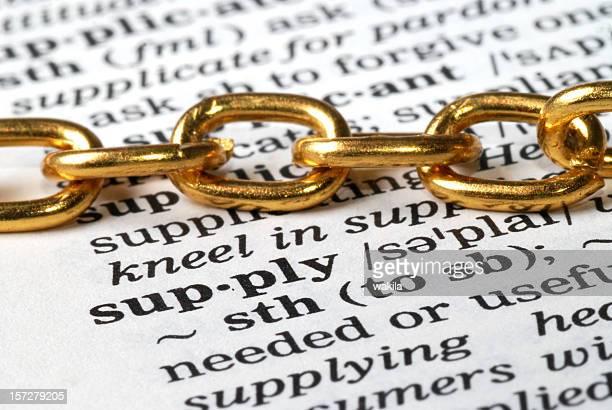 Cadena de suministro palabra de DFS en el Diccionario de impacto