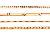Different chain isolated on white
