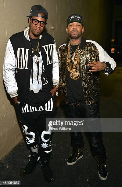 Chainz and Cap 1 attend Dwyane Wade's Birthday Celebration at Velvet Room on January 19 2014 in Chamblee Georgia