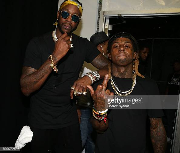 Chainz and Lil Wayne attend 2016 Budweiser Made In America Festival Day 1 on September 3 2016 in Philadelphia Pennsylvania