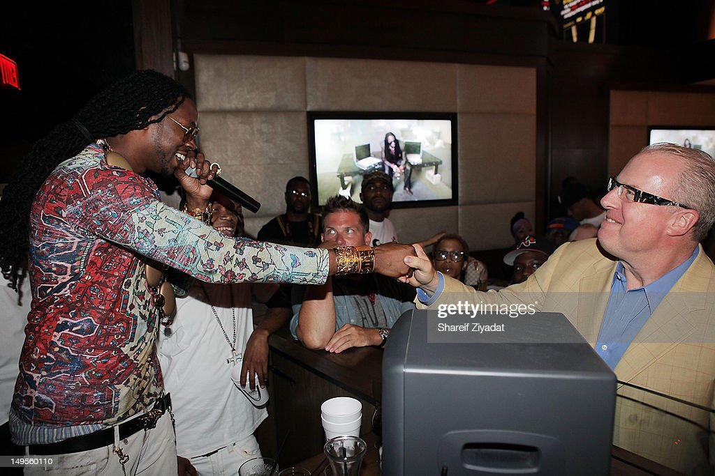 2 Chainz and Steve Bartels attend the 2 Chainz Album Release Party at 40 / 40 Club on July 30, 2012 in New York City.