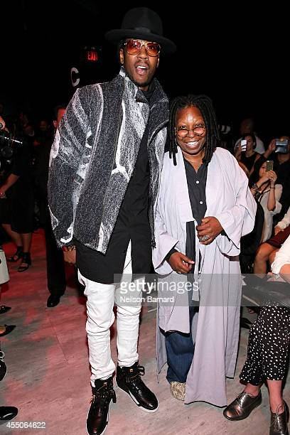 Chainz and Whoopi Goldberg attend the Skingraft fashion show during MercedesBenz Fashion Week Spring 2015 at The Pavilion at Lincoln Center on...