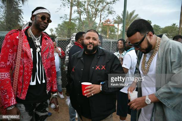 Chainz DJ Khaled and French Montana during day 3 of the Coachella Valley Music And Arts Festival at the Empire Polo Club on April 16 2017 in Indio...
