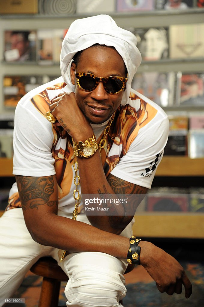 <a gi-track='captionPersonalityLinkClicked' href=/galleries/search?phrase=2+Chainz&family=editorial&specificpeople=8559144 ng-click='$event.stopPropagation()'>2 Chainz</a> films Music Choice's Take Back Your Music Campaign at Other Music on September 12, 2013 in New York City.