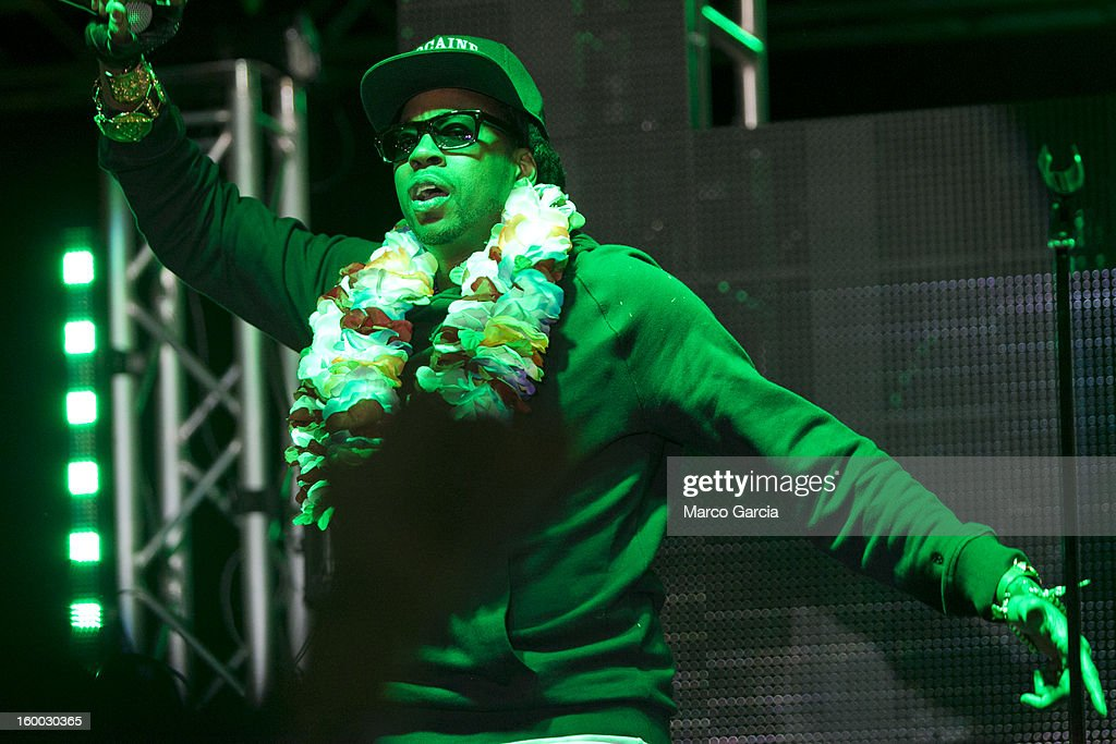 2 Chainz peforms with Hennessy V.S at Aloha Tower Marketplace on January 24, 2013 in Honolulu, Hawaii.