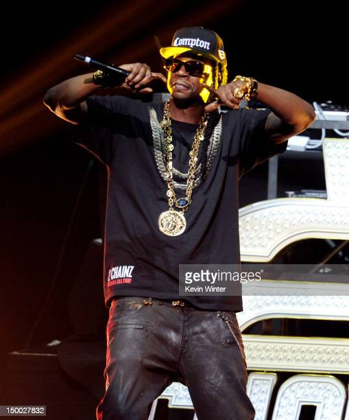 Chainz performs at the Nokia Theatre LA Live on August 8 2012 in Los Angeles California