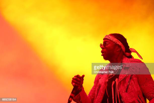 Chainz performs at the Saraha tent during day 3 of the Coachella Valley Music And Arts Festival at the Empire Polo Club on April 16 2017 in Indio...