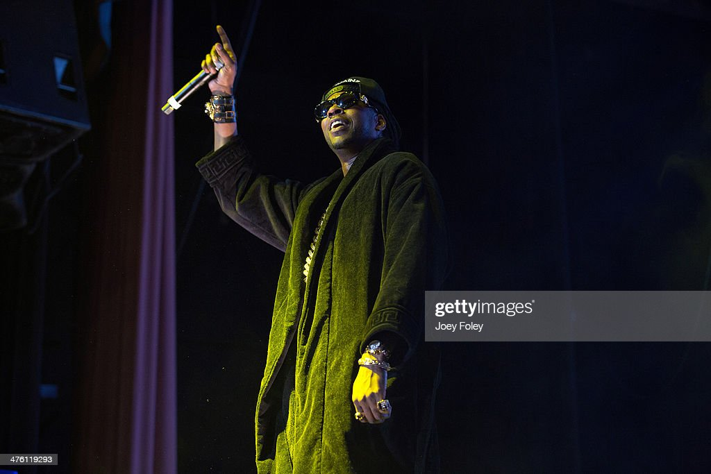 2 Chainz performs during the 2 Good To Be T.R.U. Tour in The Egyptian Room at Old National Centre on March 1, 2014 in Indianapolis, Indiana.
