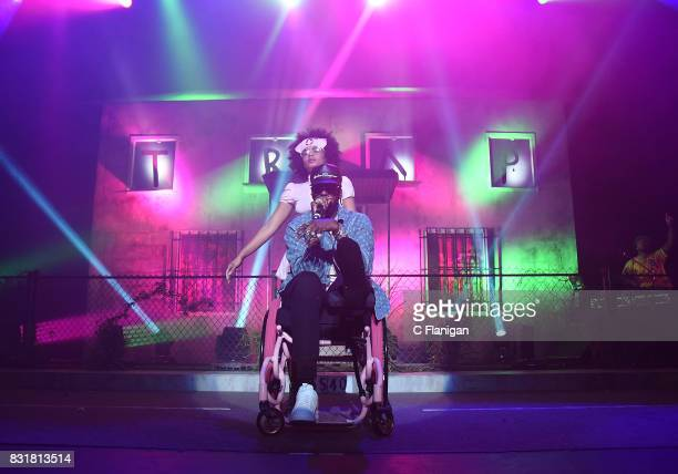 Chainz performs in a wheelchair during the 'Pretty Girls Like Trap Music' tour at Fox Theater on August 14 2017 in Oakland California