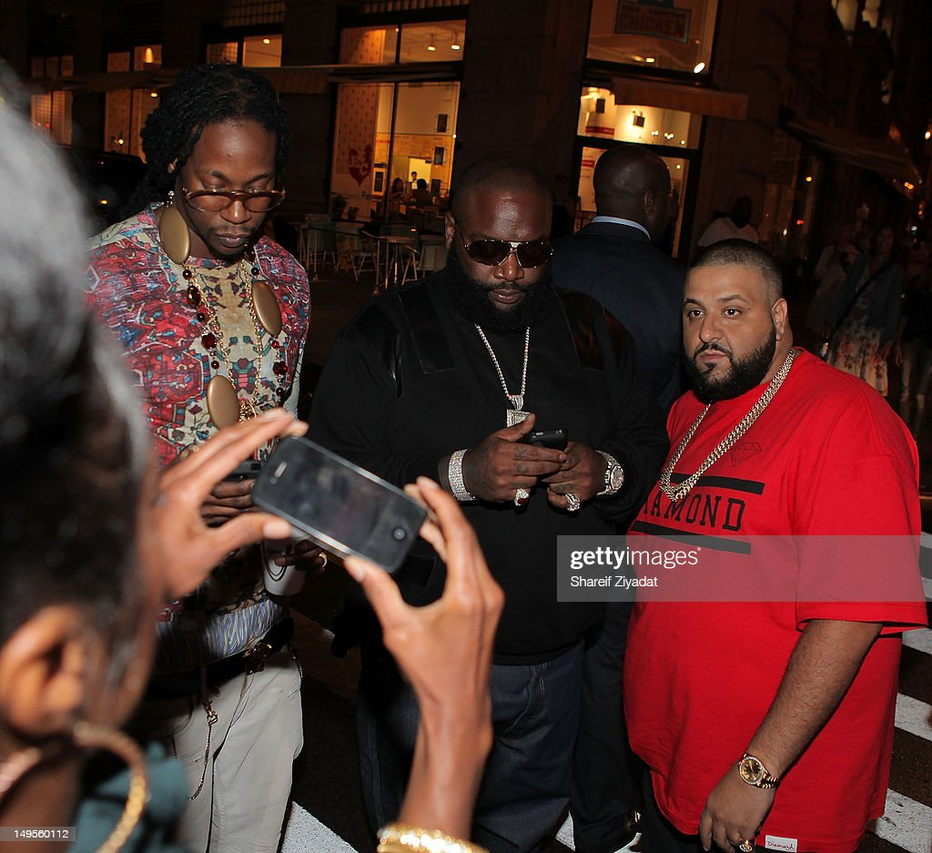 2 Chainz, Rick Ross and Dj Khaled attend the 2 Chainz Album Release Party at 40 / 40 Club on July 30, 2012 in New York City.