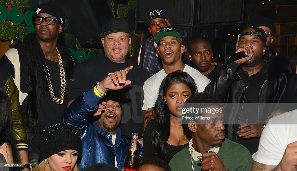 2 Chainz, Shawn Pecas, Victor Cruz and Young Jeezy attend Young Jeezy And Victor Cruz's Post Super Bowl Party at Greenhouse on February 2, 2014 in New York City.