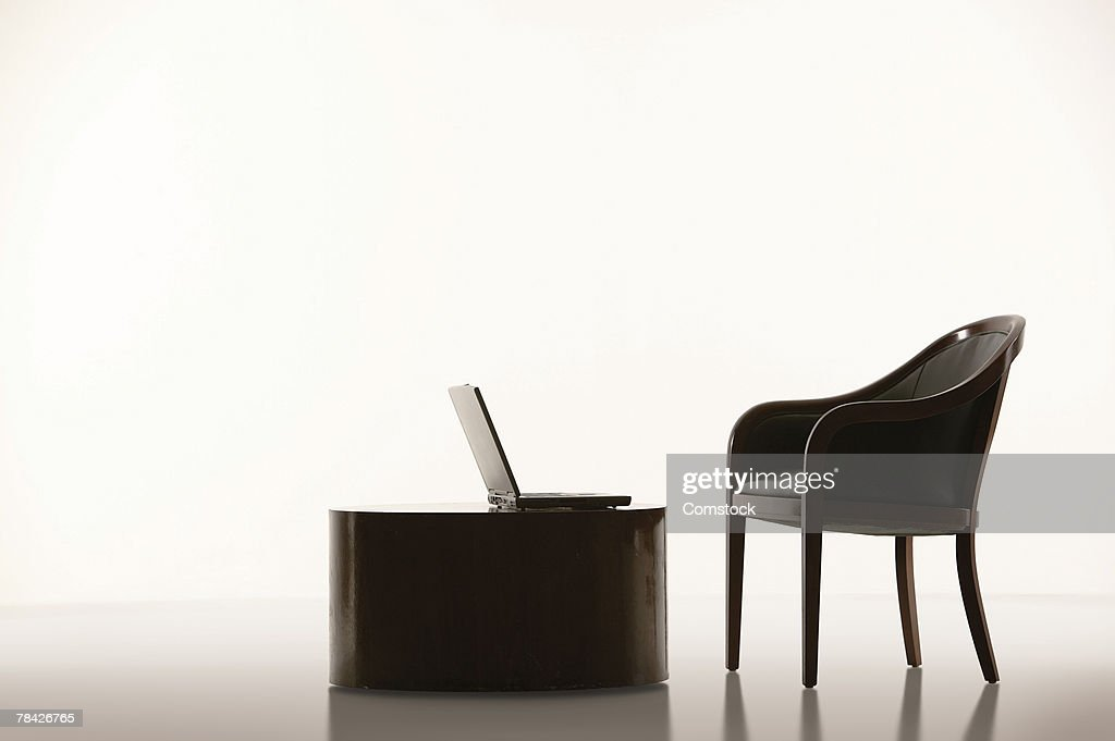 Chair and laptop computer
