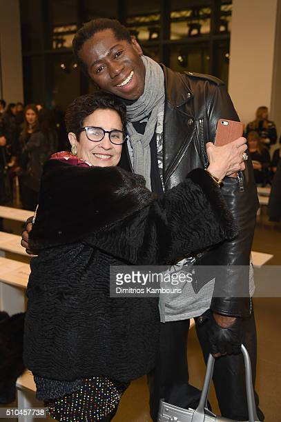Chair at House of Z Susan Posen and TV personality Miss J Alexander attends the Zac Posen Fall 2016 fashion show during New York Fashion Week at...