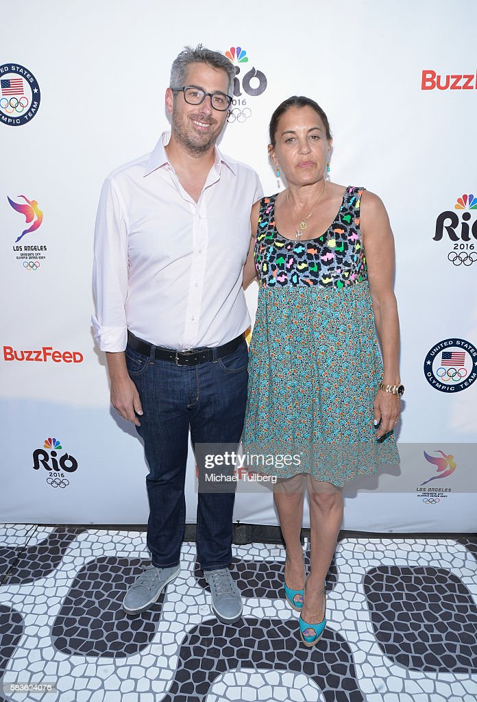Chair Casey Wasserman and Laura Wasserman attend the first Olympics Soci@l Opening Ceremony in advance of NBC's coverage of the 2016 Rio Olympics at Jonathan Beach Club on July 26, 2016 in Santa Monica, California.