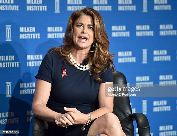 Chair CEO and Chief Designer kathy ireland Worldwide Kathy Ireland speaks onstage at the 2016 Milken Institute Global Conference on May 04 2016 in...