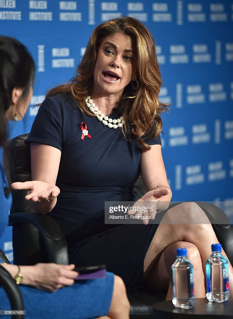 Chair, CEO and Chief Designer kathy ireland Worldwide, Kathy Ireland speaks onstage at the 2016 Milken Institute Global Conference on May 04, 2016 in Beverly Hills, California.