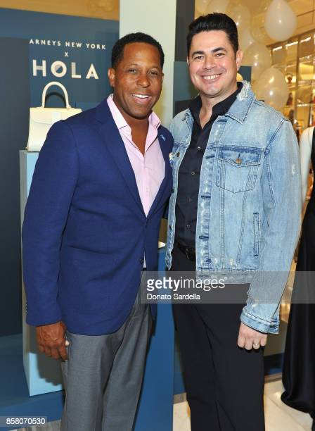 Chair Committee Tony Brown and Barney's New York Joe Sena attend a Cocktail Event in support of HOLA Heart of Los Angeles hosted by Barneys New York...