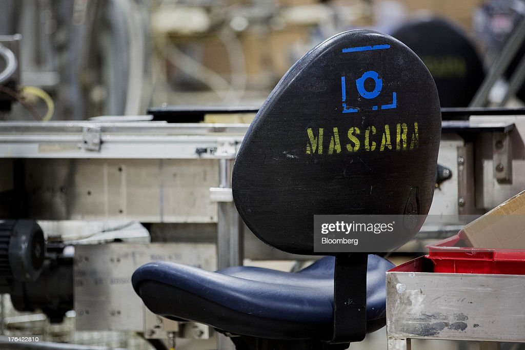 A chair dedicated to the mascara production line sits at the Mary Kay Inc. manufacturing facility in Dallas, Texas, U.S., on Tuesday, Aug. 6, 2013. About 350,000 Mary Kay businesses were started globally in the past year, including 90,000 in the first quarter of 2013, according to a company press release. Photographer: T.J. Kirkpatrick/Bloomberg via Getty Images