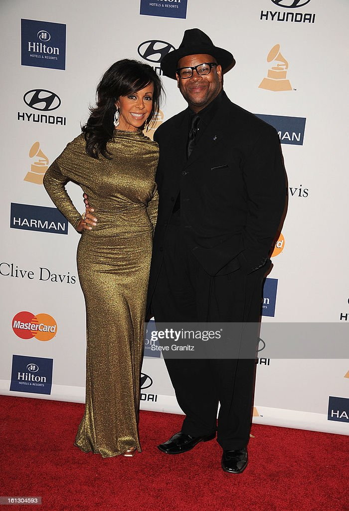 Chair Emeritus of The Recording Academy Jimmy Jam (R) and Lisa Harris arrive at the 55th Annual GRAMMY Awards Pre-GRAMMY Gala and Salute to Industry Icons honoring L.A. Reid held at The Beverly Hilton on February 9, 2013 in Los Angeles, California.