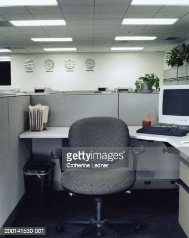 Chair in office cubical