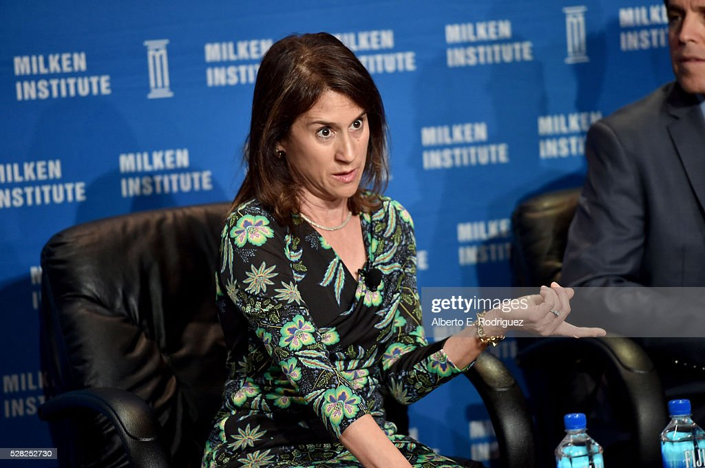 Chair of the board of the Heising-Simons Foundation Elizabeth Simons speaks onstage at the 2016 Milken Institute Global Conference on May 04, 2016 in Beverly Hills, California.