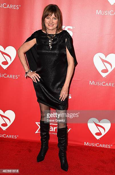 Chair of the Board of Trustees Christine Albert attends the 25th anniversary MusiCares 2015 Person Of The Year Gala honoring Bob Dylan at the Los...