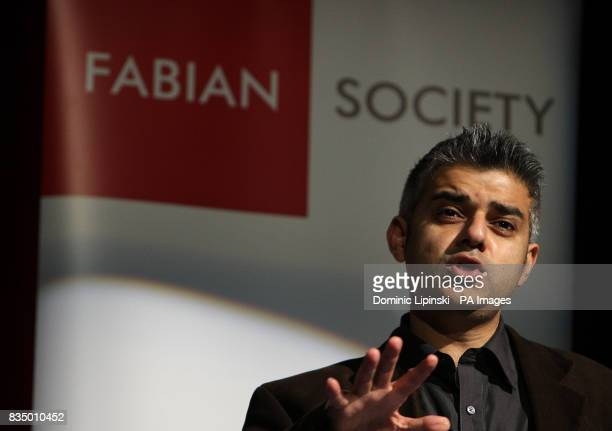 Chair of the Fabian Society Sadiq Khan at the Fabian Society Conference 'Fairness Doesn't Happen By Chance' at Imperial College Kensington London