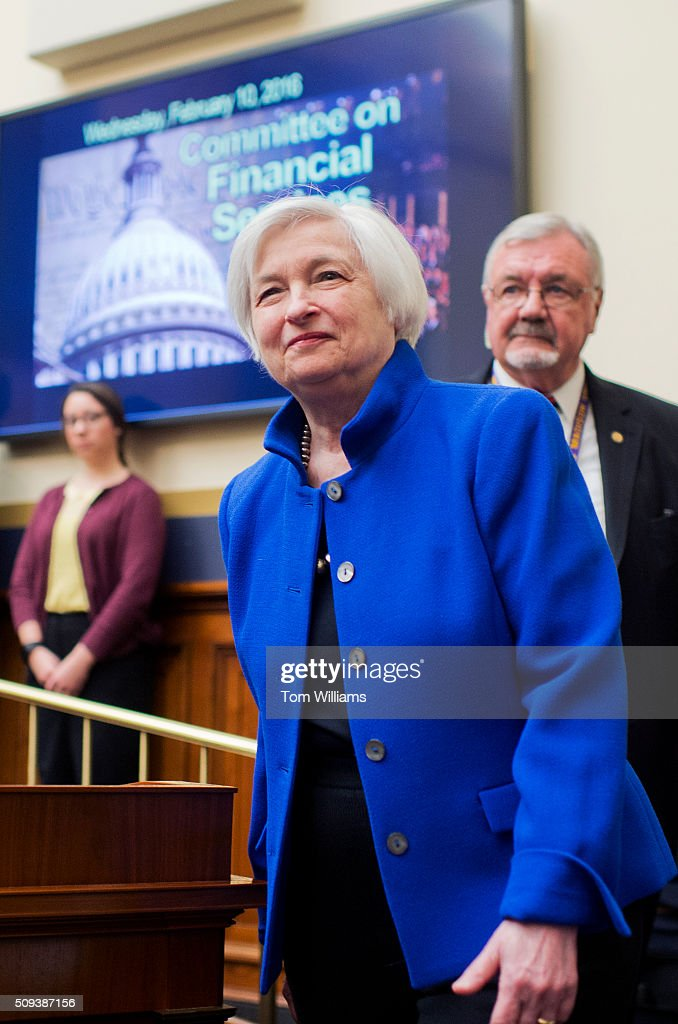 Chair of the Federal Reserve Janet Yellen arrives for a House Financial Services committee hearing in Rayburn titled Monetary Policy and the State of the Economy,' February 10, 2016.